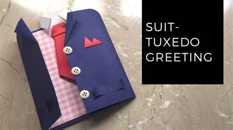 How To Make A Tuxedo Out Of Paper - diy suit tuxedo greeting card tutorial how to make