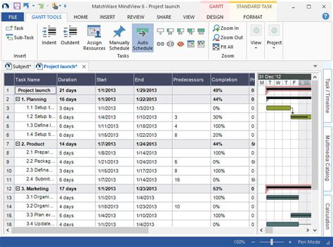 gantt charts templates gantt chart for project planning proggis