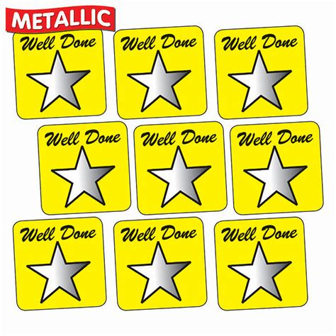 Well Done stickers metallic well done yellow 16mm