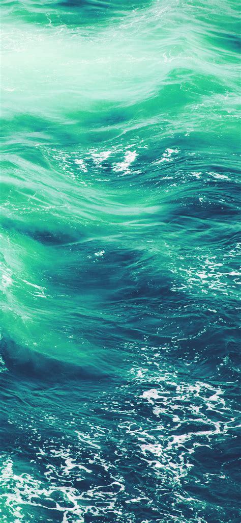 vq wave nature water blue green sea ocean pattern wallpaper