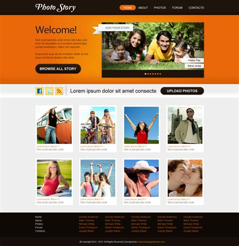 best web layout for photography flat 30 special discount offer on website template psd