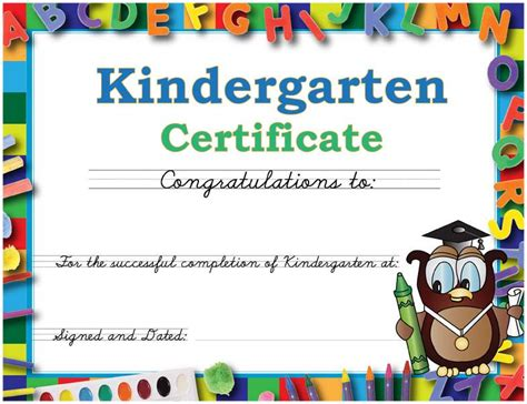 kindergarten certificate template graduation caps and gowns for kindergarten daycare and