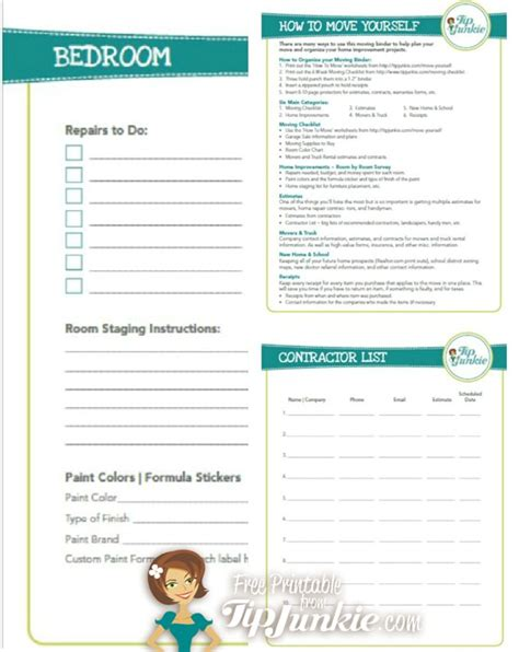 How To Move By Yourself by How To Move Yourself Planner Checklist Tip Junkie