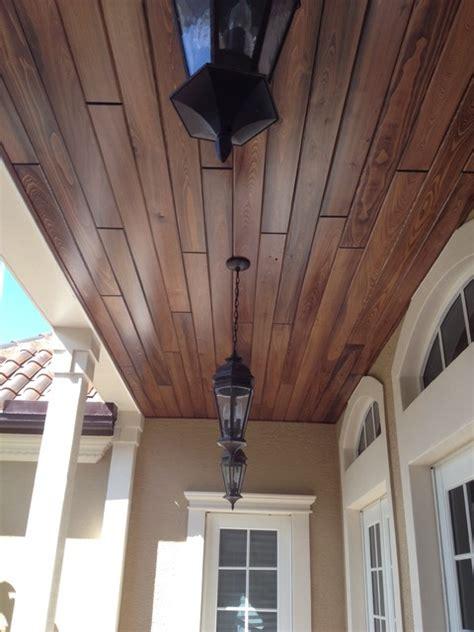 tongue groove ceiling level  exterior miami