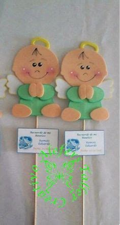 angelito de foami ideal para baby shower bautizo o decoracion de recamara de bebe