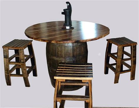 amish whiskey barrel table amish dining table character rustic hickory barrel style