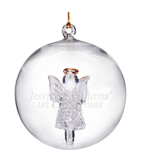 personalised tree decoration glass bauble just