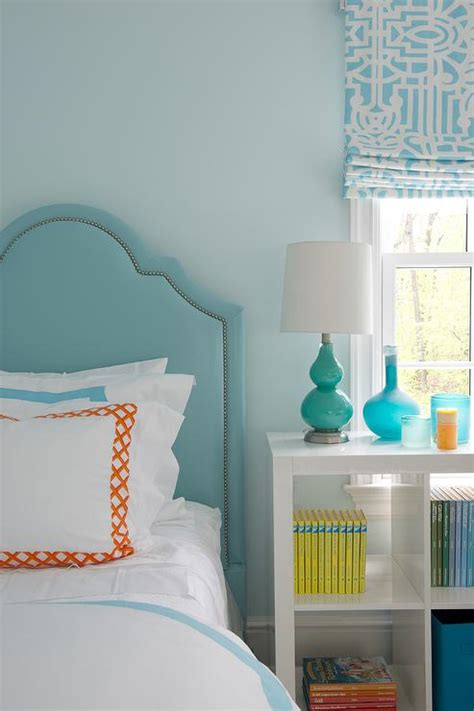 orange and light blue bedroom turquoise kids room with blue and orange bedding
