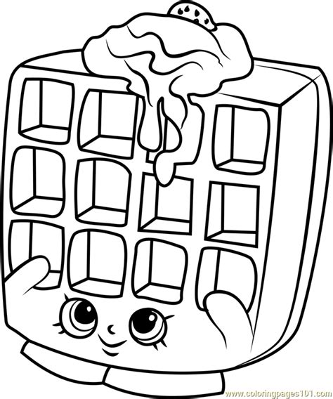 waffles coloring pages