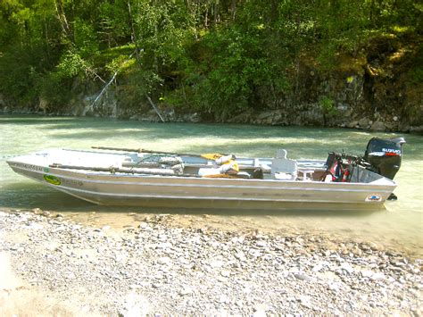 runabout fishing boat conversion outboard jet boats fishtale river guides 907 746 2199