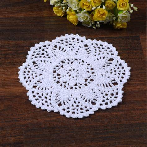 Crochet Table Mats - cotton crochet floral lace doily placemat table