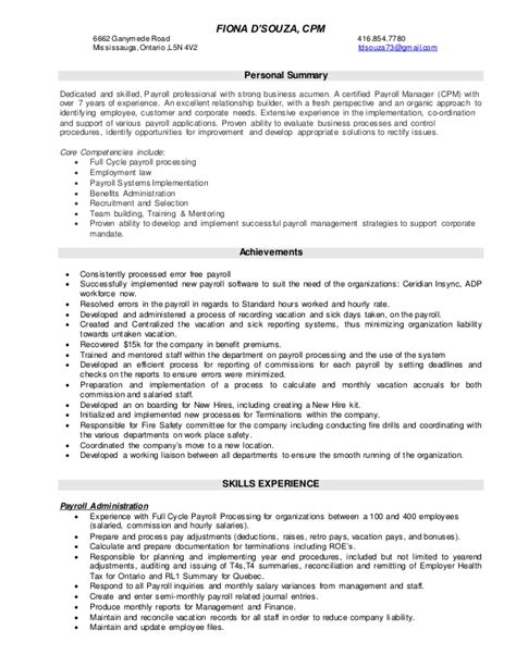Payroll Analyst Sle Resume by Payroll Resume 100 Images Payroll Resume Click Here To This Payroll Manager Resume Template