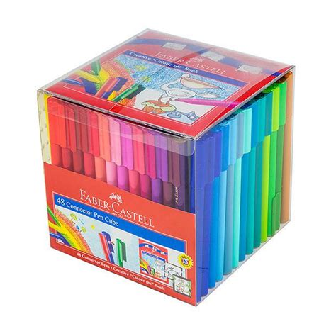 Connector Pen Faber Castell Isi 50 Warna faber castell connector pen cube 48 pack target australia