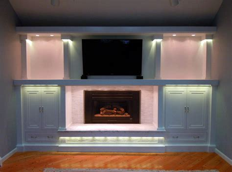 Led Lights For Fireplace by Led Entertainment Center And Fireplace Accent Lighting