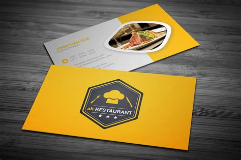 restaurant card template restaurant business card business card templates