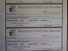 Child Care Receipt Template Receipt Template For Daycare Sandle Pictures To Pin On