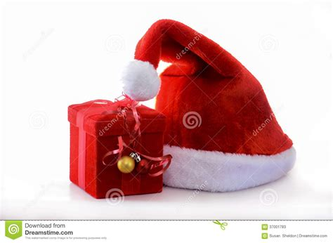 santa hat music box santa hat with box stock photos image 37001783