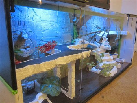 led lights for snake tank reptile terrarium entertainment center with led lights