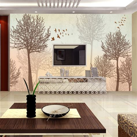 Tree Design Wallpaper Living Room by Aliexpress Buy Mural Simple Modern Abstract Tree