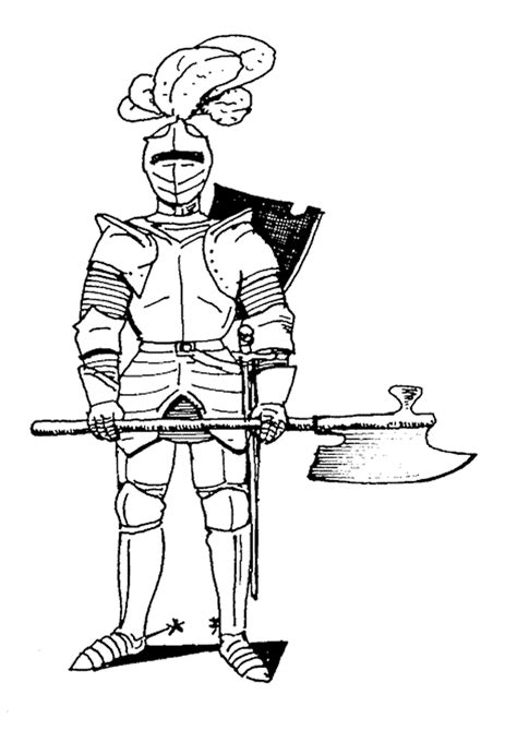 coloring page of knight in armor coloriage chevalier en armure hugolescargot com