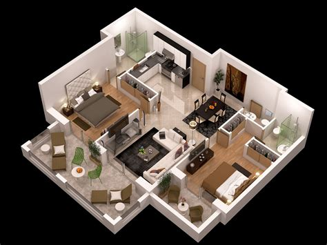 detailed floor plan 3d 3d model max obj cgtrader