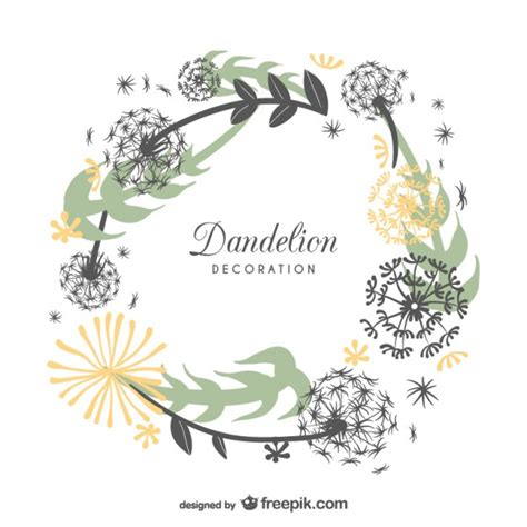 frame design online free frame design with dandelions vector free download