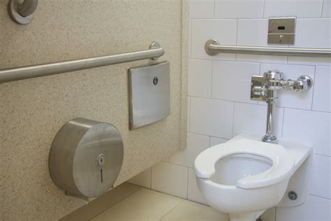 using public bathrooms ramsey public library chion partitions by evans