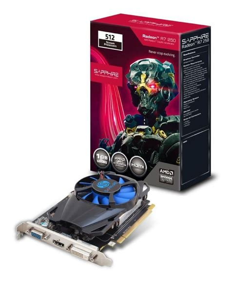 Vga Card Sapphire sapphire radeon r7 250 1gb gddr5 vga dvi d hdmi pci e graphics card ebuyer