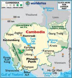 World Map Cambodia by Cambodia Latitude Longitude Absolute And Relative