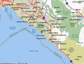 map of california coastline beaches laguna ca