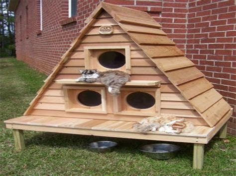 outdoor houses plans for outdoor winter cat houses outdoor cat house plans cathouse plans
