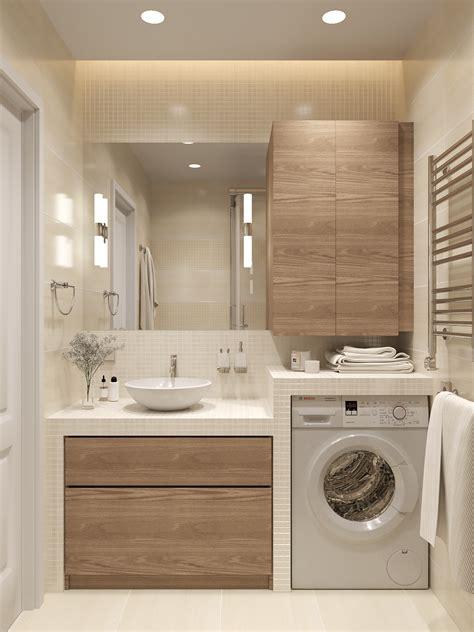 neat bathroom layout   washing machine