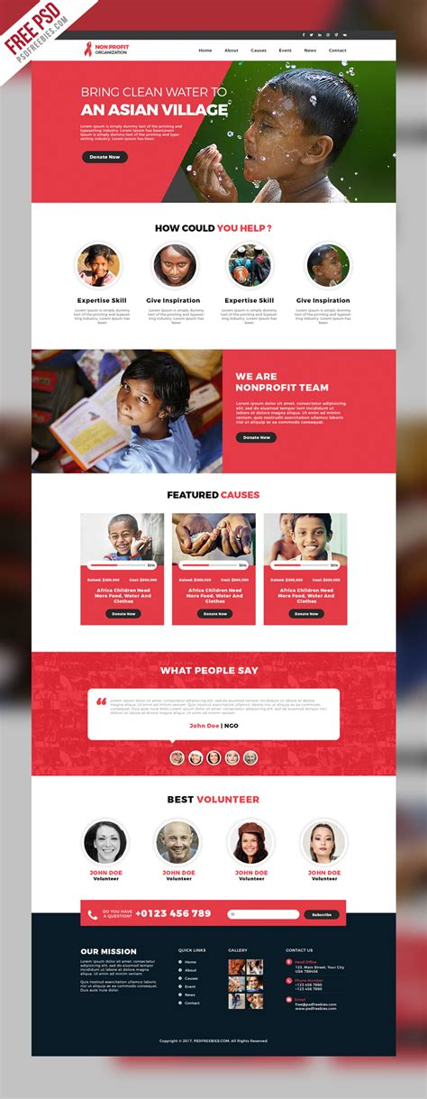 free templates for organization website non profit organization website template free psd
