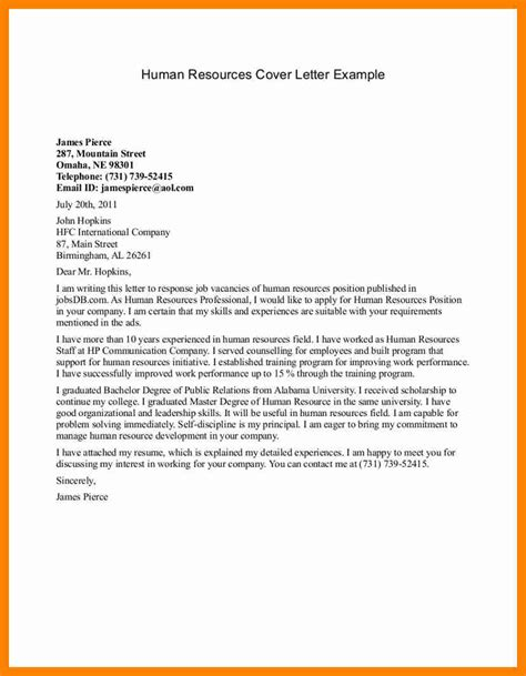 10 sle human resource cover letter sap appeal