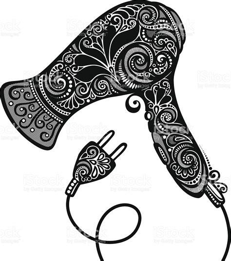 Vintage Hair Dryer Clip ornate hairdryer vintage design stock vector 494507193 istock