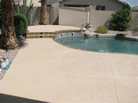cool deck backyard pool plaster sledge concrete coatings