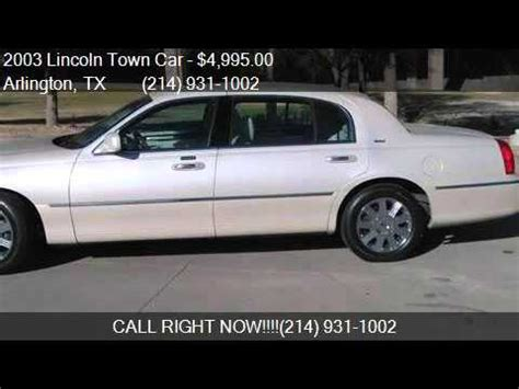 l for sale 2003 lincoln town car cartier l for sale in arlington tx
