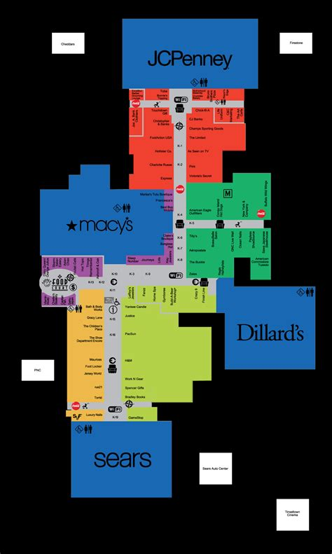 oak park mall map complete list of stores located at southern park mall a shopping center in youngstown oh a