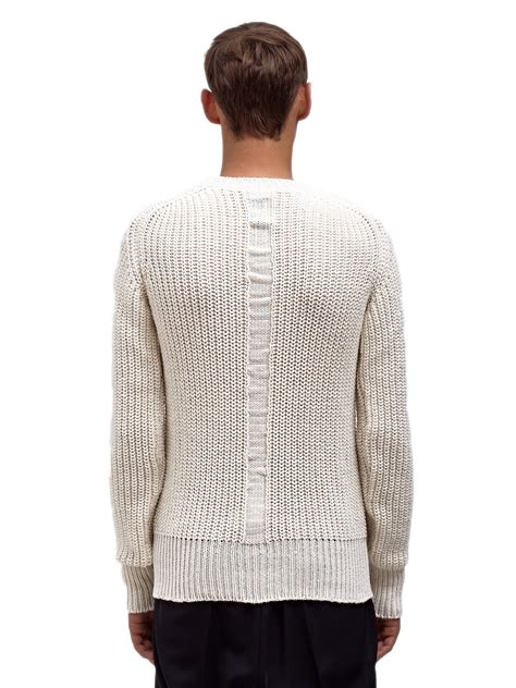 white knit sweater mens rick owens mens fisherman knit sweater in white for lyst
