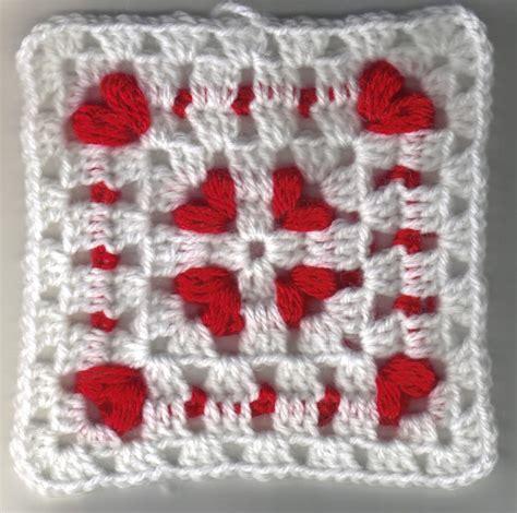 pattern for heart granny square cornered hearts square