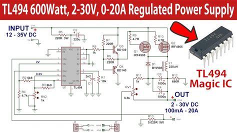 tl watt regulated switch mode power supply