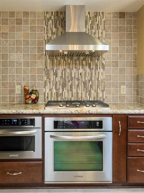 neutral glass tile backsplash photo page hgtv