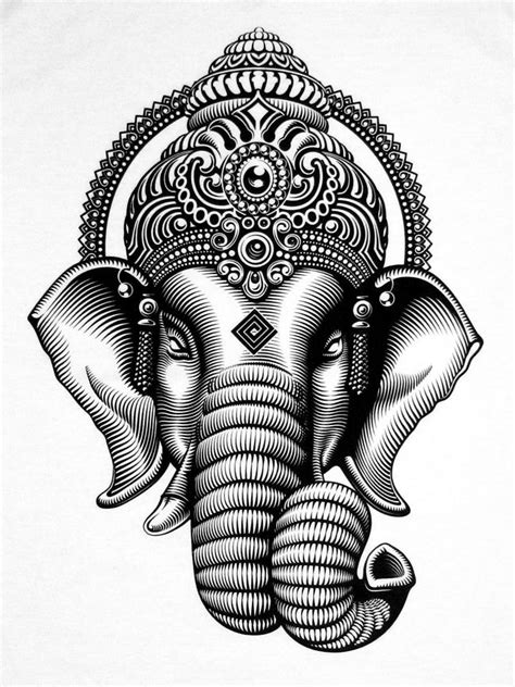 ganesh tattoo template ganesha black and white drawing joy studio design
