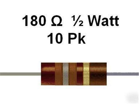 resistor 180 ohm 1 2watt 180 ohm 1 2 watt 5 carbon comp resistors 10pcs