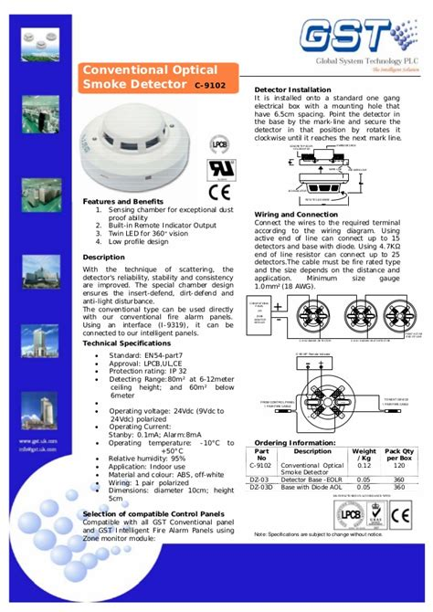 gst smoke detector wiring diagram 33 wiring diagram