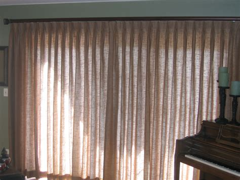Decorative Curtains For Doors - pinch pleat drape on a sliding glass door with a
