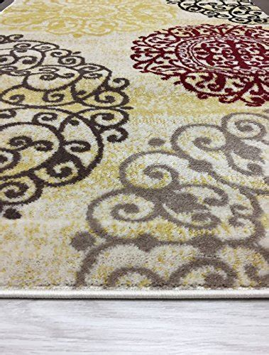 modern floral area rugs rugshop contemporary modern floral indoor soft area rug 5 3 quot x 7 3 quot frenzystyle