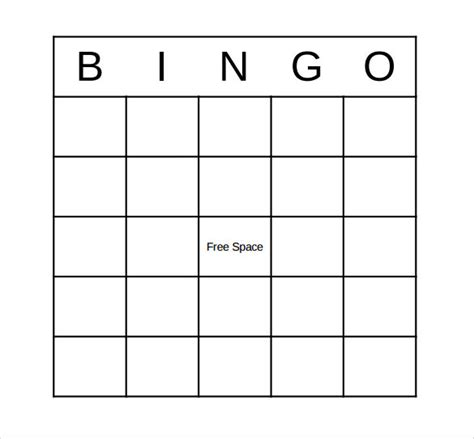 bingo card template 12 sle bingo cards sle templates