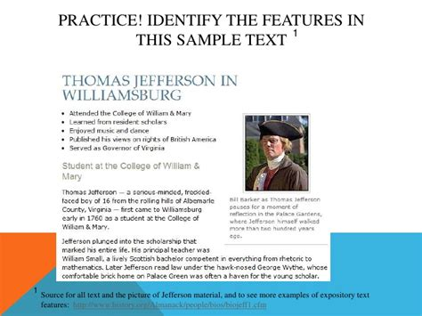 Is Biography An Expository Text | expository text features