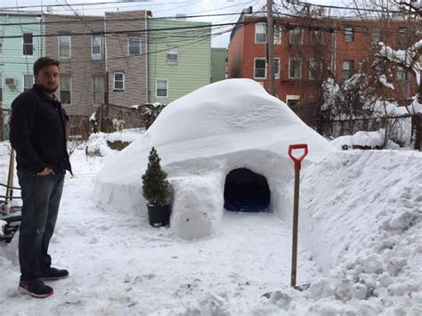 how to make an igloo in your backyard guy builds igloo in brooklyn and lists on airbnb for 200